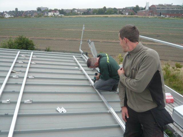 Vorbereitung einer Photovoltaikanlage